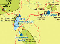 Manyara National Park Map