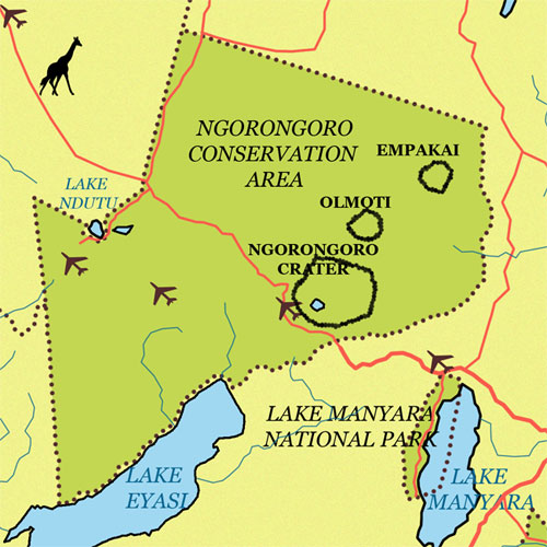 Ngorongoro Conservation Area Map