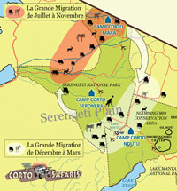 Map of the Serengeti National Park